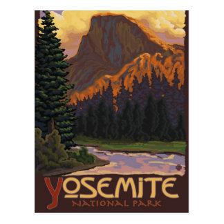 Yosemite Nationalpark - halbes Hauben-Reise-Plakat Postkarte
