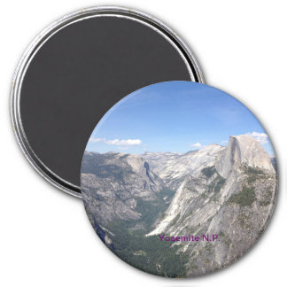 Yosemite Nationalpark Magnet Runder Magnet 7,6 Cm