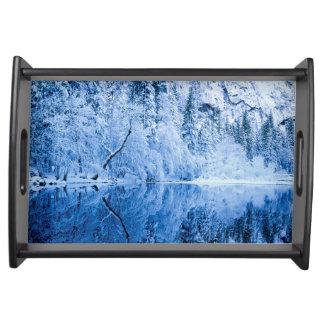 Yosemite Nationalpark Merced Fluss-|, CA Tablett