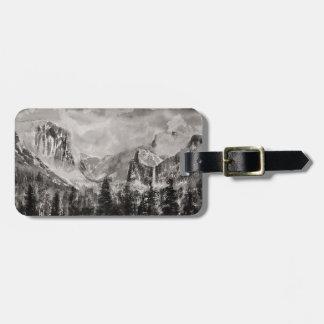 Yosemite-Park im Winter Kofferanhänger