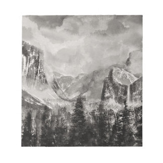 Yosemite-Park im Winter Notizblock