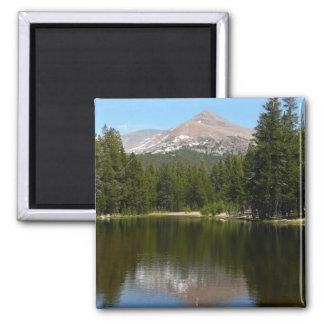 Yosemite See-Reflexion Quadratischer Magnet