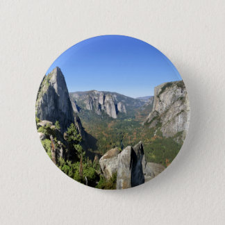 Yosemite-Tal-Panorama 2 - Yosemite Runder Button 5,7 Cm
