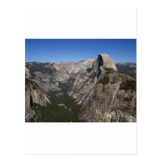 Yosemite-Tal und halbe Haube vom Gletscher-Punkt Postkarte