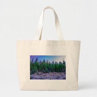 Yosemite-Tal-Wald u. Himmel Jumbo Stoffbeutel