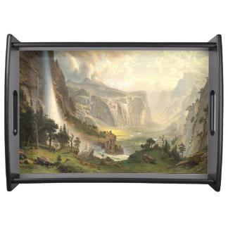 Yosemite-Wasserfall-Tal Bierstadt Serviertablett