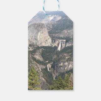 Yosemite Wasserfall und Berge Geschenkanhänger