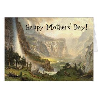 Yosemite-Wildnis-Wasserfall-Mutter-Tageskarte Karte