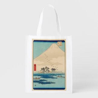 Yoshiwara, Japan: Vintager Woodblock Druck Wiederverwendbare Einkaufstasche
