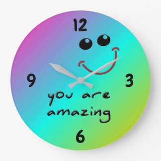 You are amazing! - wall clock große wanduhr