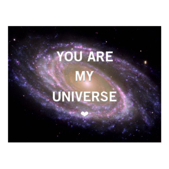 You are my Univese Galaxy Postcard Postkarte