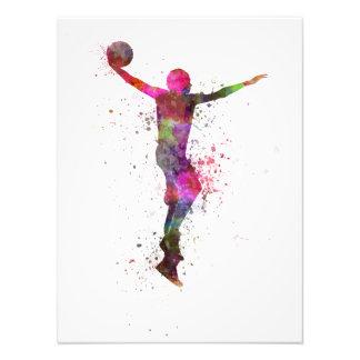 young man basketball, dunking zu player kunstfoto