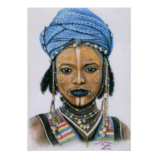 Young Wodaabe Man Poster