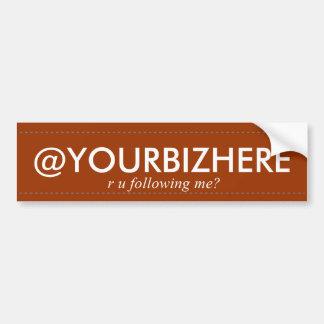 @YOURBIZHERE Stoß-Aufkleberblau Autoaufkleber