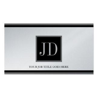 YourJobTitle Platin-Schwarzes/silbernes Visitenkartenvorlagen
