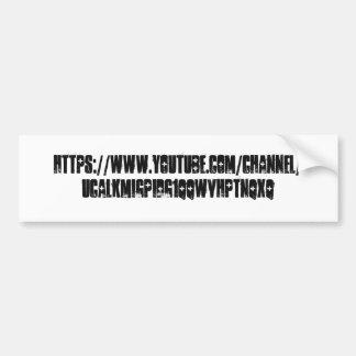 YouTube-Kanal-Autoaufkleber Autoaufkleber