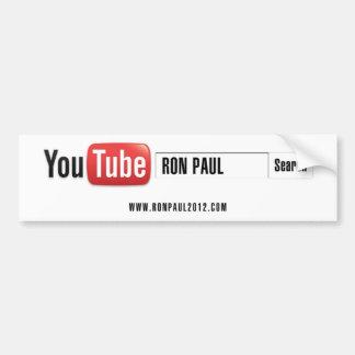 YouTube Ron Paul Autoaufkleber