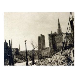 Ypres von Rue de Ville, im Juni 1915 Postkarte