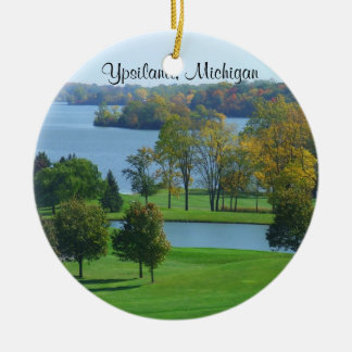Ypsilanti, Golfplatz Michigans MI auf See Keramik Ornament