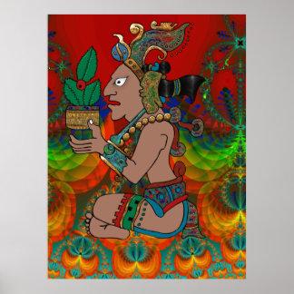 Yucatan psychedelisches Mexicano Visiones Poster