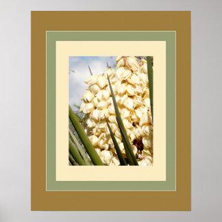 Yucca-Blüten - Sonoran Wüsten-Pflanzen Artprint Poster