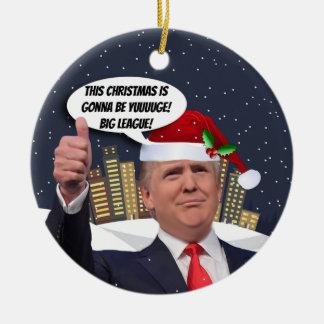 Yuge Weihnachten! Donald- Trumpbaum-Verzierung Keramik Ornament