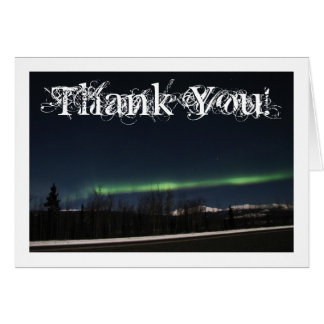 Yukon-Aurora Borealis; Danke Karte