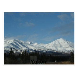 Yukon-Berge Postkarte