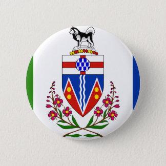 Yukon-Flagge Runder Button 5,1 Cm