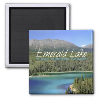 Yukon-Gebiets-Kanada-Reise-Kühlschrankmagnet Quadratischer Magnet