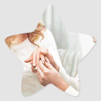Yuletide Verlobung Stern-Aufkleber