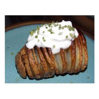 Yum gebratene Kartoffel Postkarte