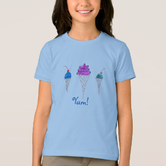 Yum Reihen-Eiscreme-Entwurf 1 T-Shirt