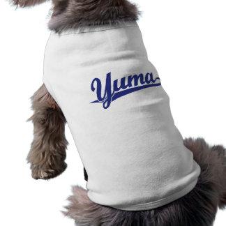 Yuma Skriptlogo im Blau T-Shirt