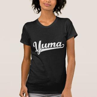 Yuma Skriptlogo im Weiß T-Shirt