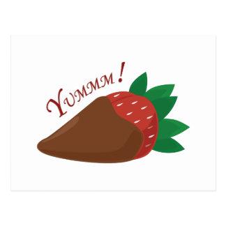 Yummm! Erdbeere Postkarte