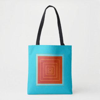 Yummy Aqua und orange/rote Mitte->Trendy Tasche