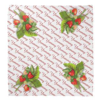 Yummy Erdbeeren, Vintages Erdbeerzeichnen Kopftuch