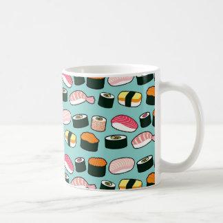 Yummy Sushi-Spaß-illustriertes Muster Kaffeetasse