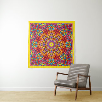 Yummy Vintage Kaleidoskop-Wand-Tapisserie Wandteppich