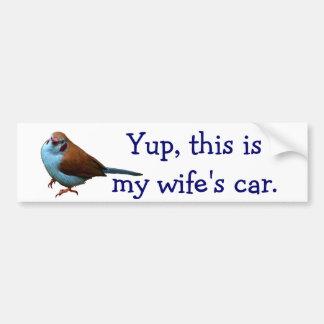 Yup, dieses ist LOLBird das Auto meiner Ehefrau Autoaufkleber