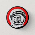 Yuri Gagarin - sowjetischer Held u. Kosmonaut Runder Button 3,2 Cm