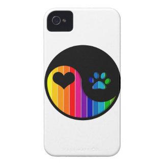 YYP_Dog_RainbowThickStripe iPhone 4 Hüllen
