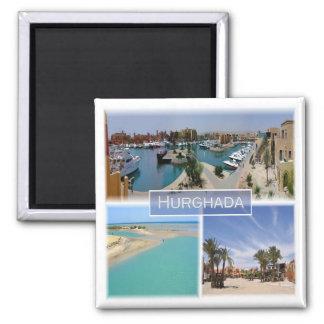 Z.B. * Ägypten - Rotes Meer - Hurghada Quadratischer Magnet