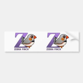 Z ist für Zebra-Fink Autoaufkleber