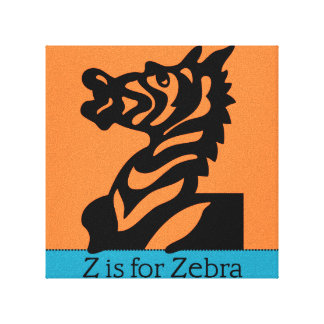 Z ist für Zebra Leinwanddruck