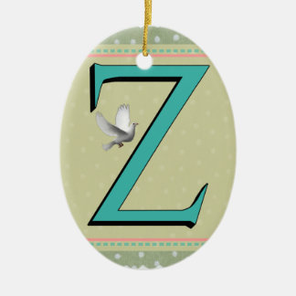 Z-MONOGRAMM-BUCHSTABE KERAMIK ORNAMENT