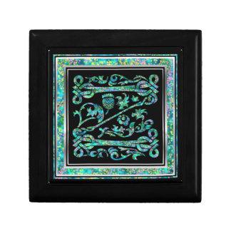 Z-Monogramm Masselle blauer dekorativer Kasten Geschenkbox