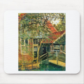 Zaandam, wenig Brücke durch Claude Monet Mauspad