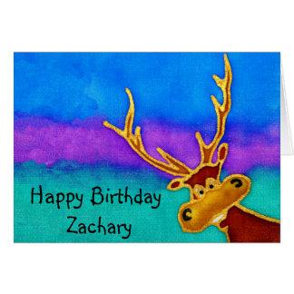 Zachary, alberne Hirschkarte alles Gute zum Karte
